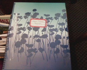Lesson planner front cover